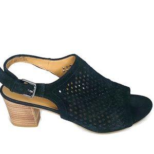 Franco Sarto leather slingback sandal heels 8.5M